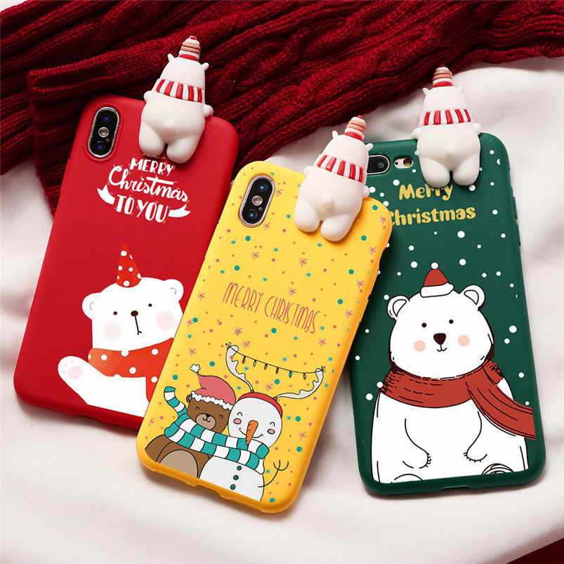 Christmas Case For Huawei P20 P30 Mate 10 Pro Nova 3 Honor 9 20 View 10 Cover For iPhone XR X XS Max 10 6 6S 7 8 Plus TPU Cover