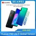 Huawei P40 Lite E глобальная версия 4 Гб 64 Гб мобильный телефон 48MP капли воды экран 6,39 ''FHD экран Kirin 710 Octa, четыре ядра, смартфон с функцией отпечатков ...