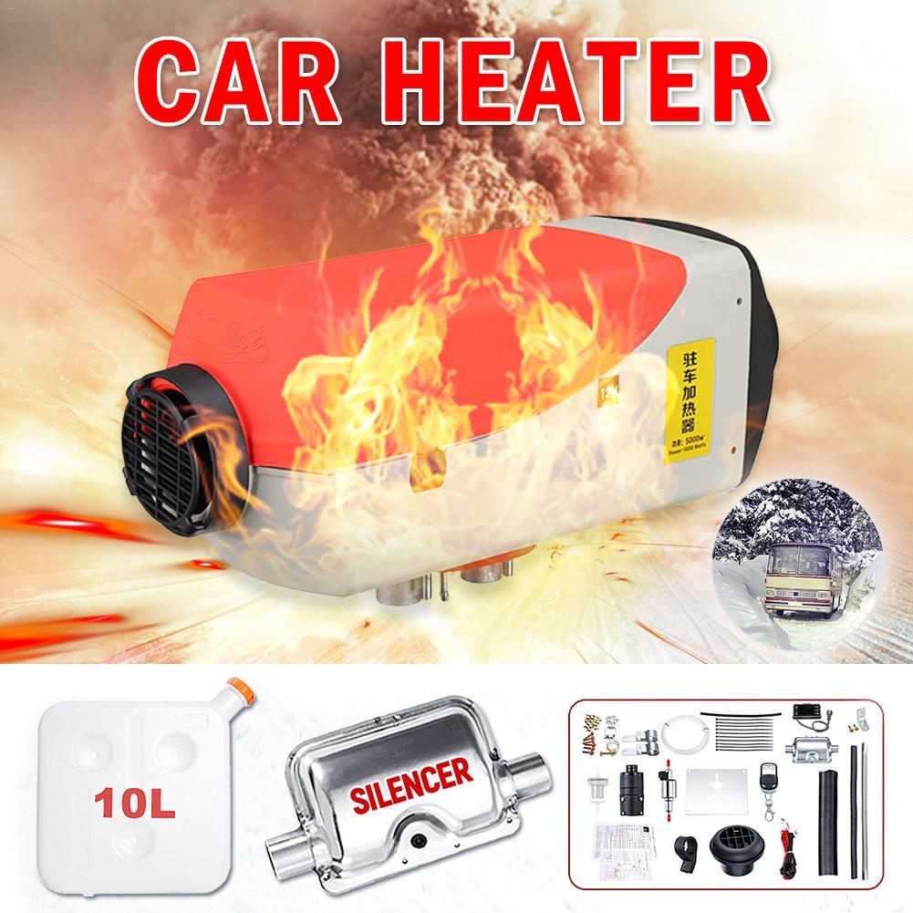 Riscaldatore ad aria Diesel 12v 5KW Ventilatore Riscaldamento Riscaldamento Dell'automobile di Rimozione della Neve e di Vetro Auto Sbrinatore Con Display LCD + a distanza di Controllo Silenziatore - 2