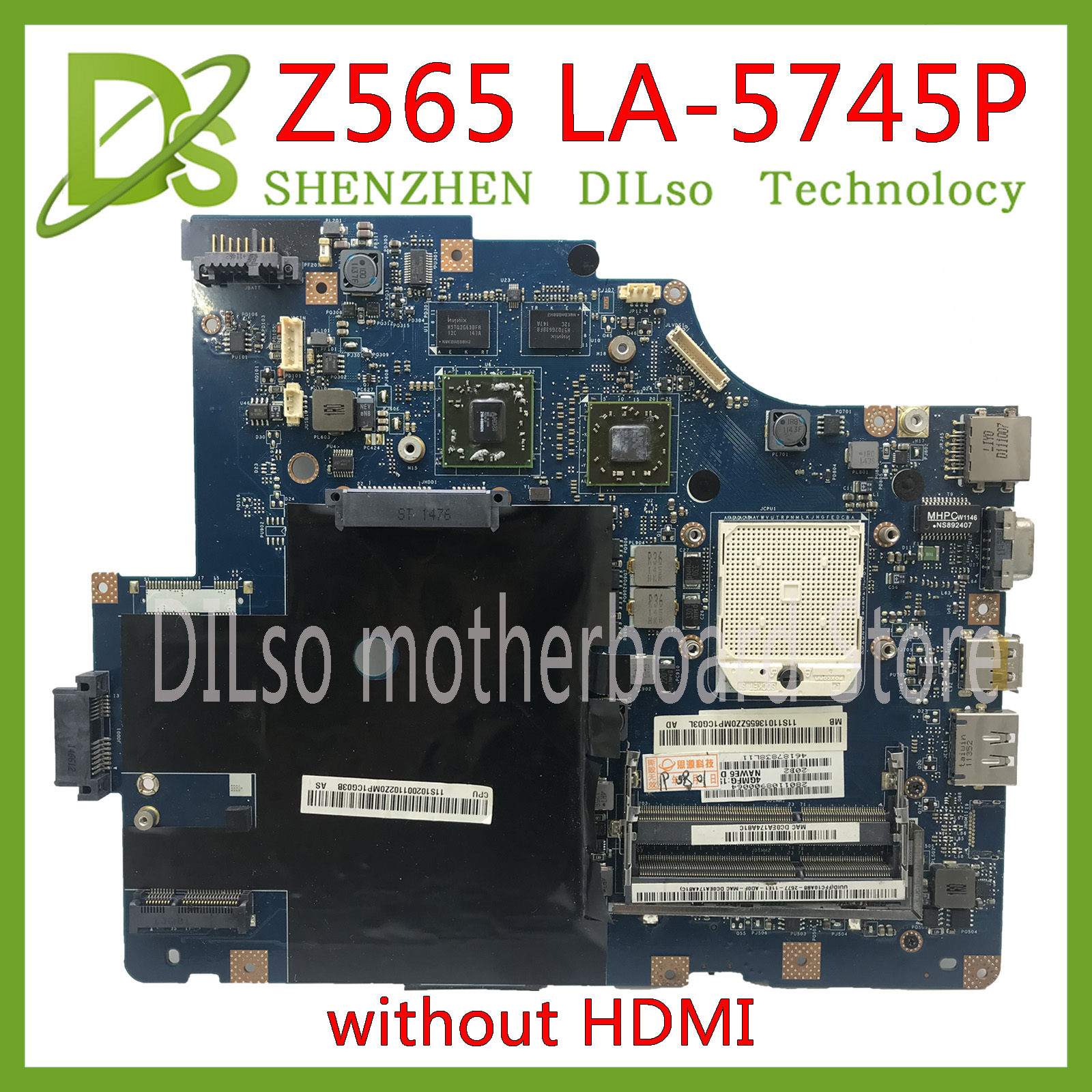 KEFU LA-5754P Motherboard For Lenovo G565 Z565 Laptop Motherboard Z565 Motherboard Test Mainboard