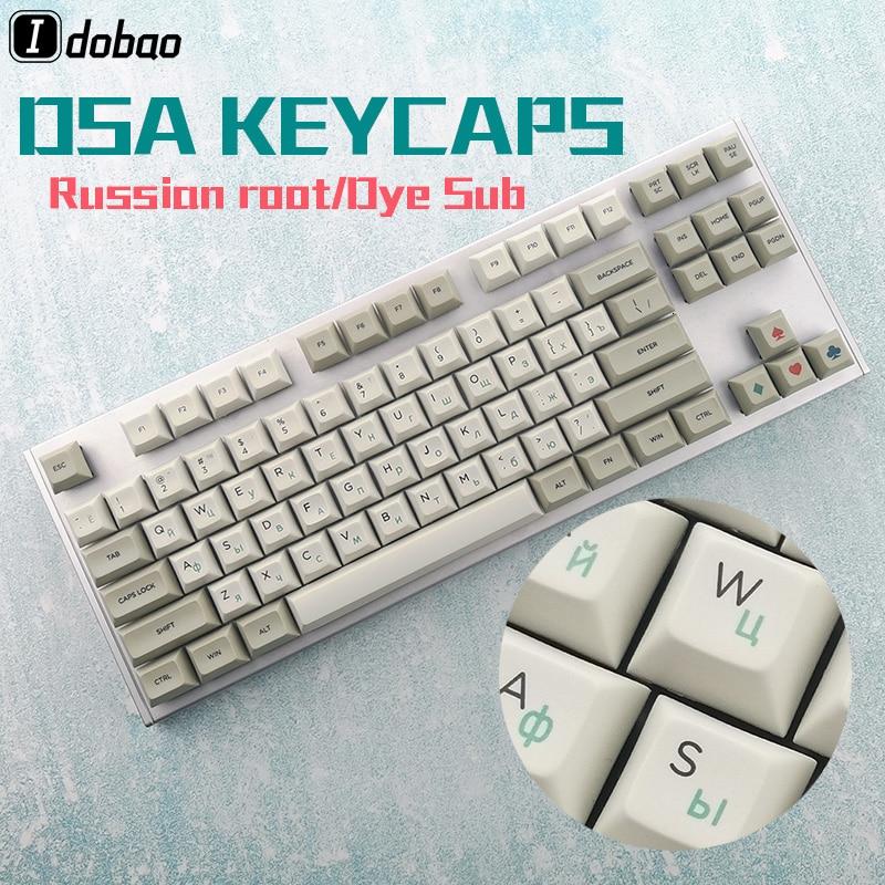שנאים וספקי כוח לצבוע תת DSA בפרופיל הרוסי השורש העבה PBT keycaps שנקבע מקלדת המכאנית גיימינג אן Pro 2 Gk61 עכו 3087 אסני 87 104 (1)
