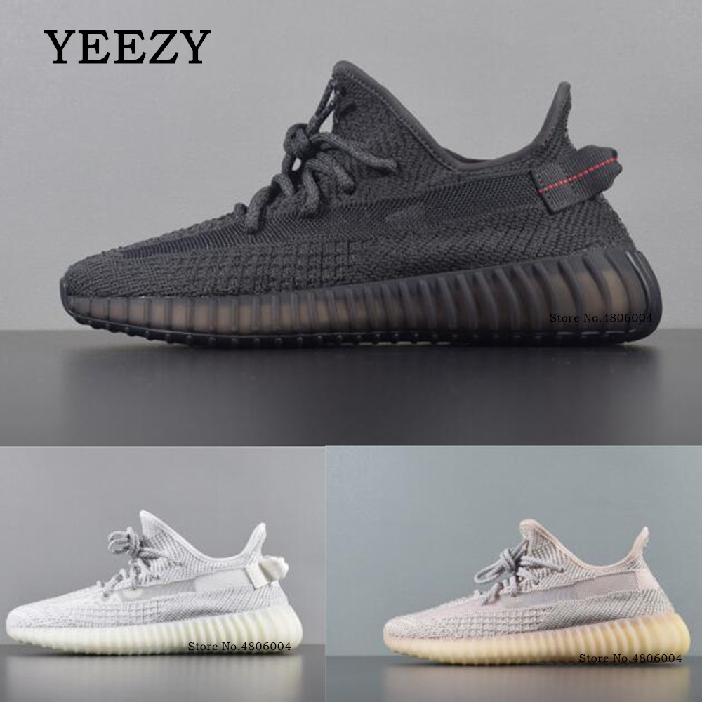 Yeezy Tennis-Shoes Sneakers Boost Yi Zi Outdoor Male Static Black/white Reflective-V2