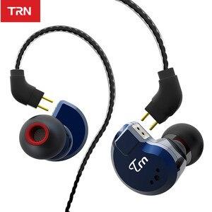 Image 2 - TRN V80 2BA+2DD Hybrid Metal In Ear Earphone HIFI DJ Monito Running Sport Earphone Earplug Headset im2\im1\ie80\x6\p1\n1\T2\V30