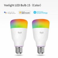 Yeelight-bombilla LED inteligente, lámpara de colores RGB 1S/1SE, AC100V-240V, E27, WIFI, Control remoto por voz para Xiaomi y asistente de Google