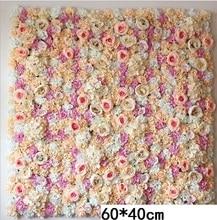 60*40 CENTIMETRI Fiori Artificiali di Attaccatura di Parete di Testa di Fiore di Rosa Di Seta Floreale Per La Cerimonia Nuziale Sfondo