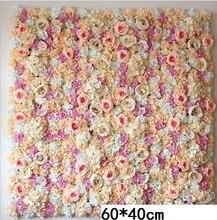 60*40CM sztuczna ściana kwiatów wiszący kwiat głowa jedwabna róża kwiatowy na ślub tło