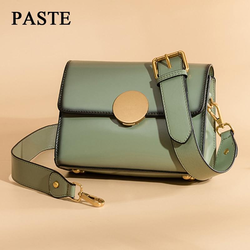 PASTE Genuine Leather Crossbody Bag For Women 2019 Summer Women's Messenger Bag New Arrivals Small Shoulder Bags Bolsas LSH302