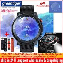 L15 Relógio Inteligente Relógio PPG ECG Monitor de Freqüência Cardíaca Dos Homens Personalizado DIY Lanterna IP68 Lembrete Chamada Smartwatch À Prova D' Água PK L11 L13