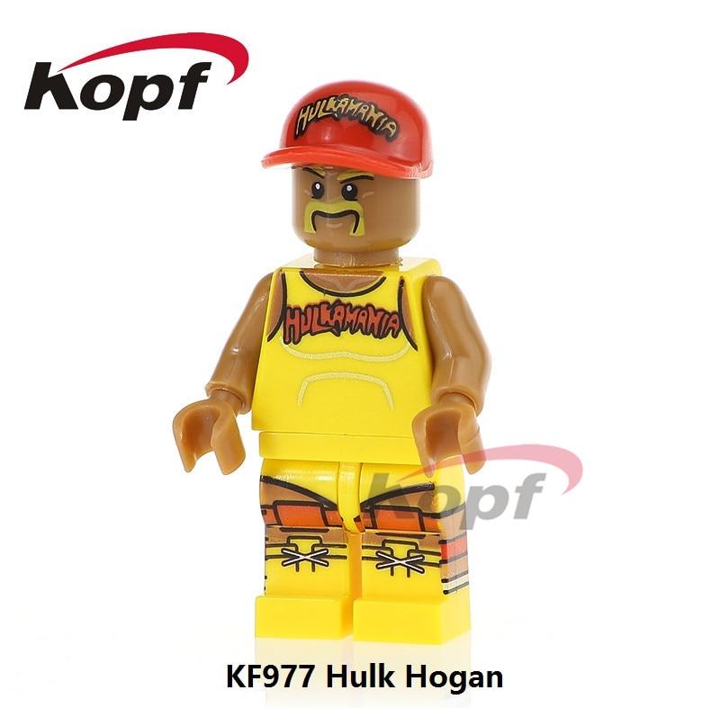 Single Sale KF977 Hulk Hogan Super Heroes  Felicity Smoak Clubber Lang Bricks Building Blocks Children Gift Toys
