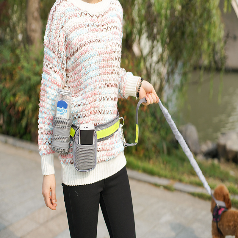 Pet Supplies Dog Combined Wallet Pet Traction Rope Running Four-piece Set Dog Fan Guang Sheng