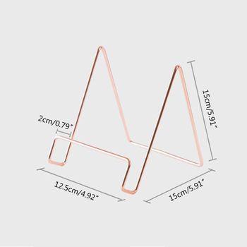Kreatywny geometryczny stojak do przechowywania prosty kutego żelaza organizator Book stojak uchwyt M0XB tanie i dobre opinie M0XB5AC1102496-GD iron Bookends