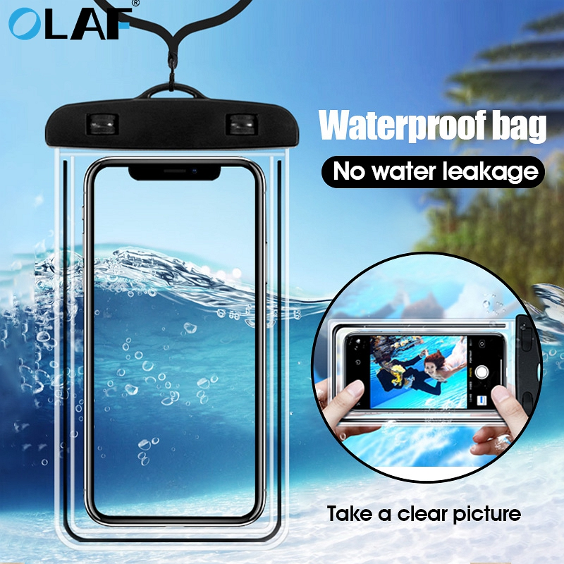 OLAF Waterproof Phone Case For IPhone 7 8 Plus X Xs Max XR Underwater Smartphone Pouch Bag Case For Samsung S8 S9 Dry Case Cover