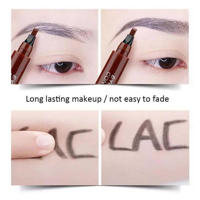 4 Tip Microblading Tattoo Eyebrow Pencil Brow Tattoo Pen Paint Makeup Eyebrows Waterproof Cosmetic Eye Brow Liner 5 Colors 3