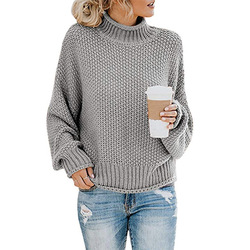 DANJEANER New Turtleneck Sweater Women Solid Casual Knitted Pullovers Fashion 2019 Female Warm Oversize Sweaters Tops for Women 6