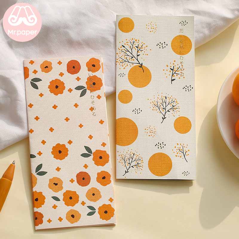 Mr Paper 4pcs/lot 6 Designs Missing Time With Love Flower Envelopes with Letter Paper Chinese Style Crane Flower Gift Envelopes 1