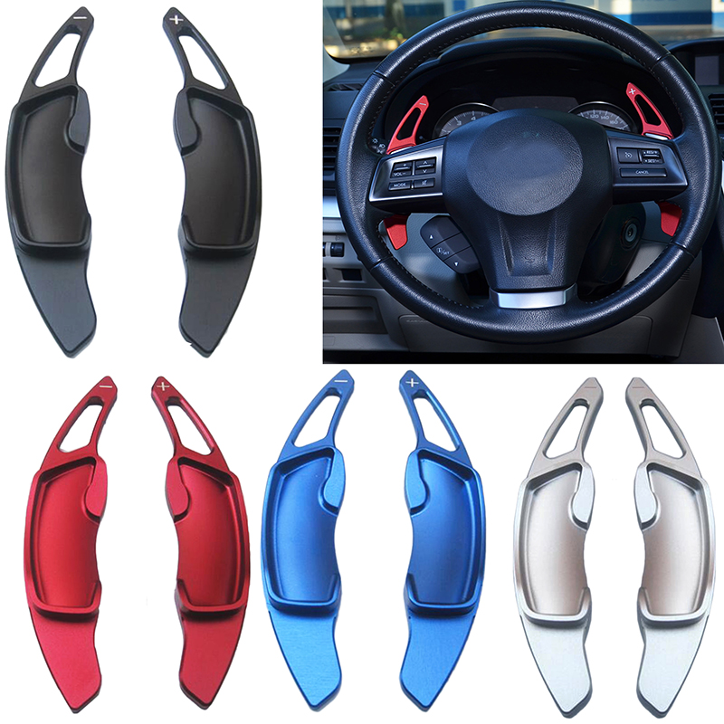 2pcs Aluminum Steering Wheel Shift Paddle Shifter Extension for Subaru Legacy WRX STI Forester impreza XV Outback accessories|shift paddles|paddle shifters|steering wheel shift paddles - title=