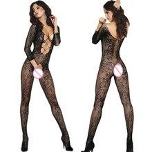 Сексуальное женское белье чулок для тела, открытая промежность боди для женщин; Большие размеры порно Эротическое нижнее белье, женская обу...