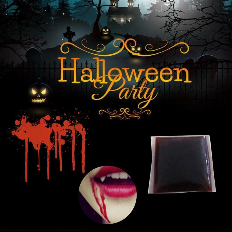 Halloween Fake Blood Plasma Artificial Pseudo Plasma Pack Cosplay  Party Horror Funny Prop Trick Toys Halloween Movie Cos Props