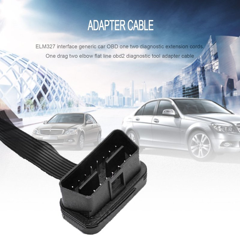 Portable OBD2 Extension Cord One-divided-two Connection Adapter Wire 16-pin Diagnostic Cable For OBD Interface Car Model