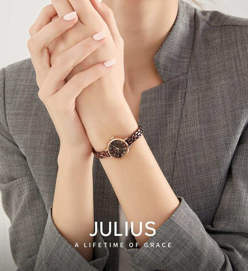 relógio moda casual pequeno dial quartzo relógios