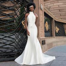 Простые Африканские свадебные платья русалки 2021 пляжные атласные