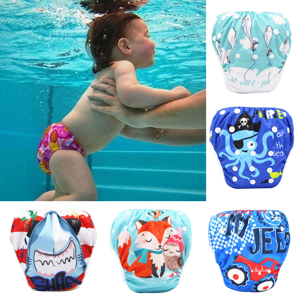 Baby Diapers Toddler Baby Boy Girl Swim Diapers Reuseable Adjustable For Baby Swimming Lesson