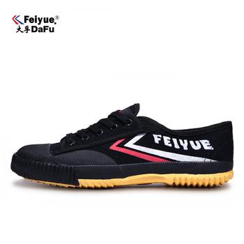 Dafufeiyue oryginalne trampki klasyczne buty sztuki walki Taichi Taekwondo Wushu Kungfu miękkie wygodne adidasy męskie buty tanie i dobre opinie Unisex CN (pochodzenie) RUBBER Sznurowane Dobrze pasuje do rozmiaru wybierz swój normalny rozmiar Spring2016 PŁÓTNO
