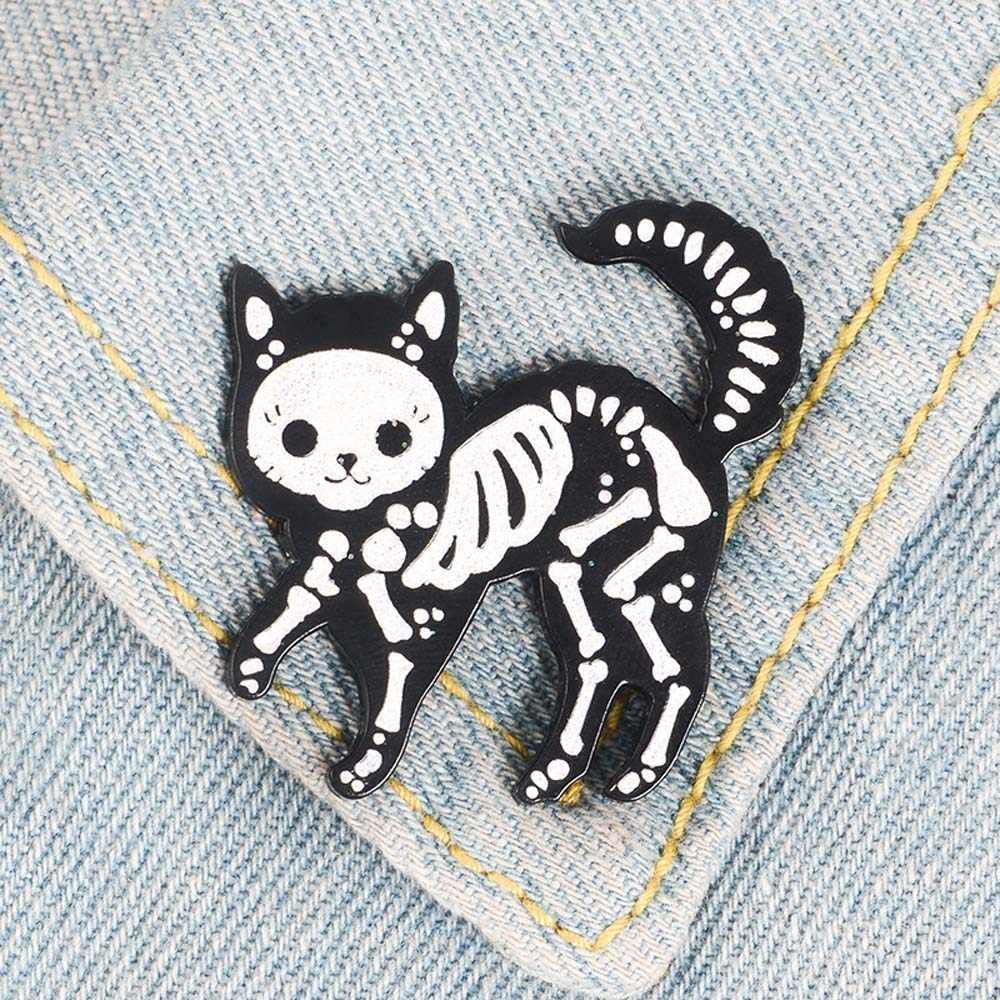 1 Chiếc Mèo Đồng Tráng Men Pin Punk Lấp Lánh Đậm Mèo Huy Hiệu Thổ Cẩm Hình Hoạt Hình Kim Loại Thổ Cẩm Cho Áo Phối Túi Pin huy Hiệu Món Quà Trang Sức