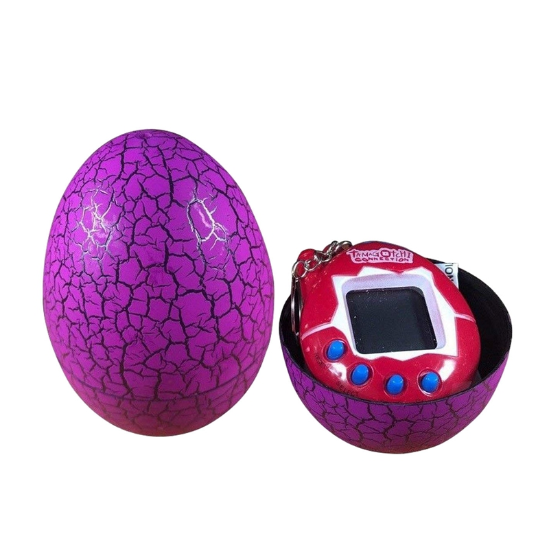 90s Nostalgic 49 Animals In A Single Virtual Cyber For Pet Toy Funny Tamagotchi With Egg(Purple)
