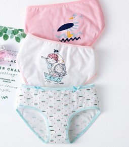 Goocheer Fashion 3Pcs/Lot Cotton High Quality Panties Girls Kids Briefs Shorts Underwear Children Underpants Clothes
