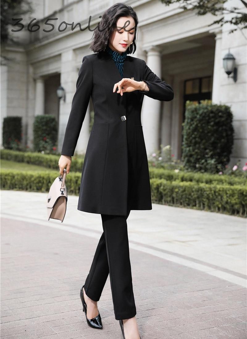 Fashion Uniform Styles Professional Business Suits for Women Office Work Wear Blazers Set Pantsuits Autumn Winter Outfits Set 28