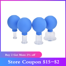 Rubber Head Glass Vacuum Cupping Cup Family Medical Vacuum Cans Suction Therapy Body Massage Chinese Suction Cup Kit Health Care