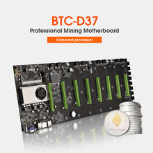 BTC-37/BTC-D37 mineiro placa-mãe para cpu conjunto 8 slot para placa de vídeo para memória ddr3 integrado vga interface baixa potência