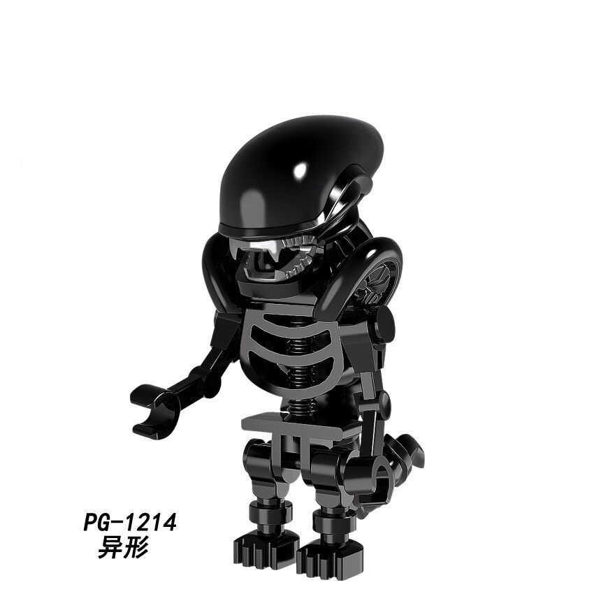 Horror Alien VS drapieżnik bloki Mini zabawki figurki akcji