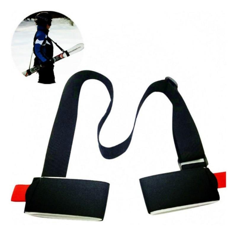 New Adjustable Ski Snowboard Easy Backpack Cross Country Ski Pole Shoulder Hand Carrier Lash Handle Dual Board Strap Bag