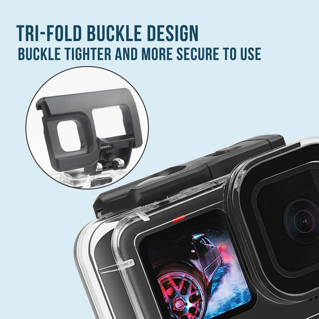 60M Waterproof Case for GoPro Hero 9 Black Protective Diving Underwater Housing Shell Cover for Go Pro 9 Camera Accessory 5