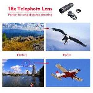 Image 3 - Apexel 18x telescópio zoom lente do telefone móvel para iphone samsung smartphones universal clipe monocular câmera lente