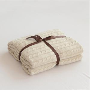 Image 5 - 솔리드 컬러 담요 침대 커버 소프트 던지기 담요 침대보 침구 니트 담요 에어 컨디셔닝 편안한 잠자는 침대 커버