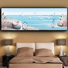 Художественная Картина на холсте морской пейзаж чайки простой