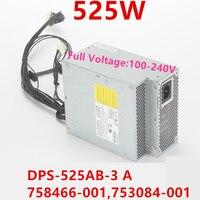 Nova FONTE de ALIMENTAÇÃO Para HP DPS-525AB-3 UM 758466-001 Z440 525W fonte de Alimentação 753084-753084-002 001 809054-001