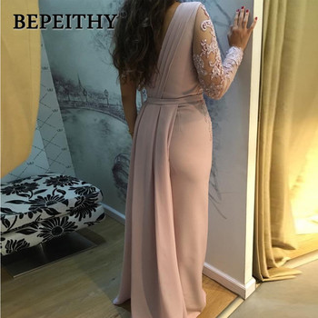 BEPEITHY One Shoulder Wedding Party Dress Long Sleeve 2019 Vestido De Festa Long Evening Prom Dress 3