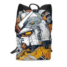 GUNDAM กระเป๋าเป้สะพายหลังชุดสูทมือถือ Gundam Record Sleeve ฝาครอบด้านหน้ากระเป๋าเป้สะพายหลังรูปแบบคุณภาพสูงกระเป๋าแนวโน้มวัยรุ่นกระเป๋ามัลติฟังก์ชั่
