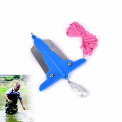 plastic+metal Small Mowing Sickle Knife For Fsihing Bait Thrower Removal Tools Weed or Water Grass for fishing random color