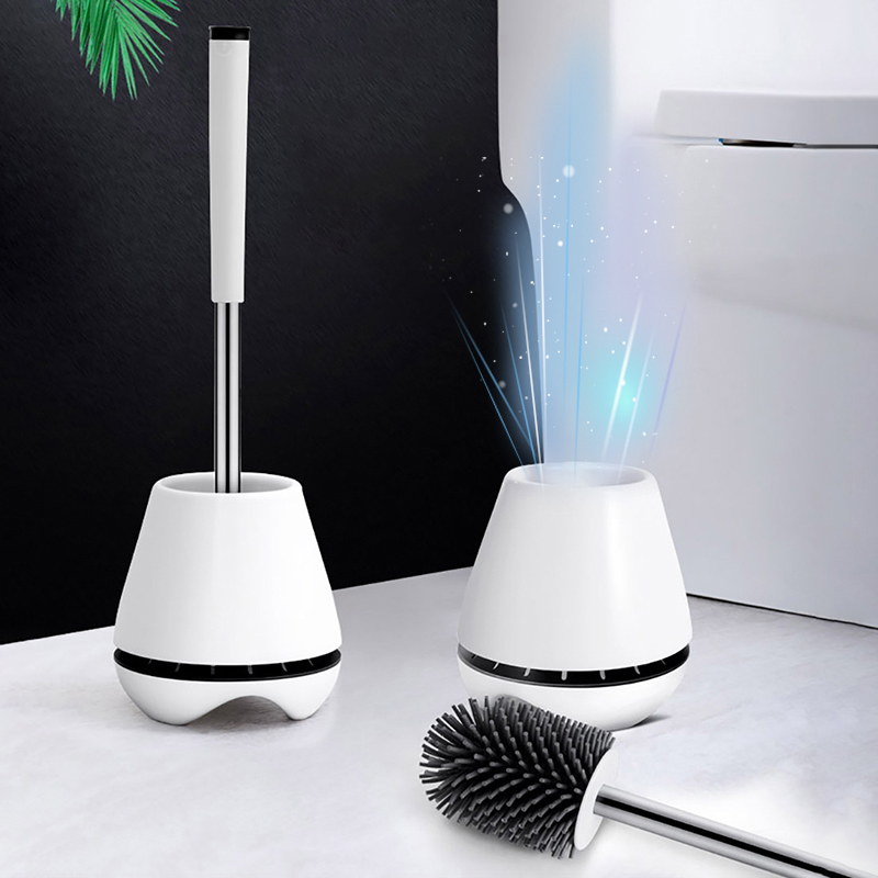 ONEUP TPR Toilet Brush Silicone Head Cleaning Brush Household Floor-standing Cleaning Tool For Toilet Bathroom Accessories Sets