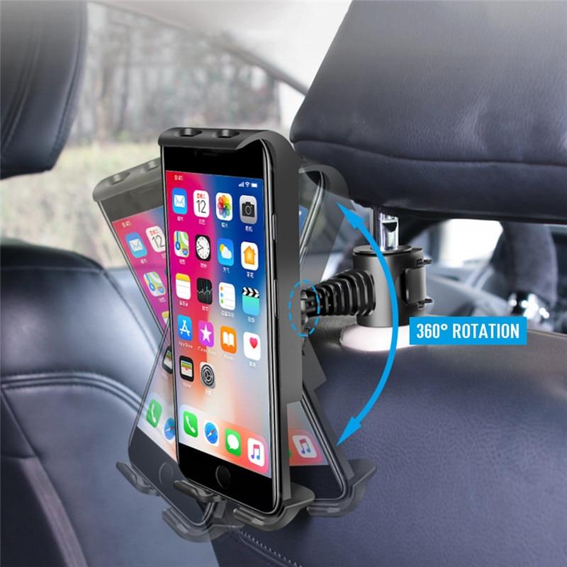 Universal Adjustable Car Tablet Stand Holder For IPAD Tablet Tablet Stand Car Seat Back Bracket For 4-11 Inch Tablet Accessorie