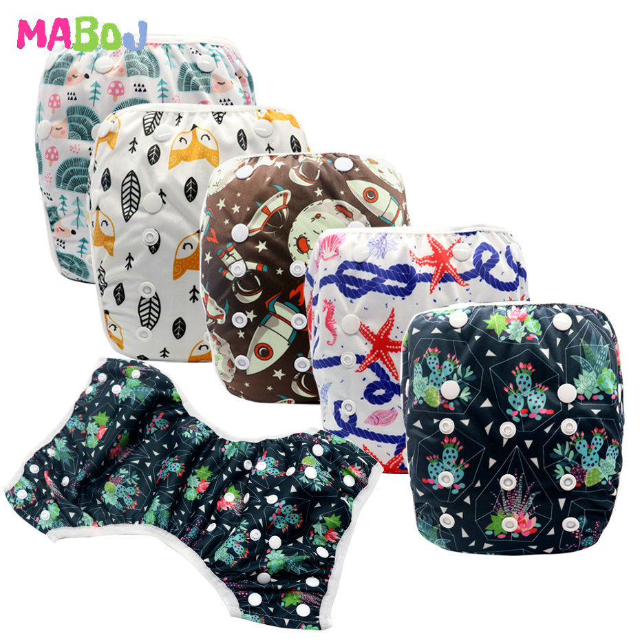 MABOJ Swimming Diaper Swimming Trunks Cloth Diapers Baby Washable Adjustable Waterproof One Size Pool Pant Cover Bathing Trunk