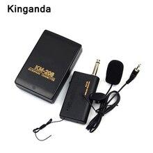Microfone profissional remoto 3.5mm, sistema de microfone sem fio com microfone, receptor e transmissor de rádio, megafone