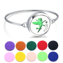Perfume Bracelet Essential Oil Diffuser Aromatherapy Locket Flower Fairy 316L Stainless Steel