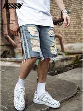 VIISHOW Mens Shorts Brand Summer Male Denim 2019 New Fashion Ripped Jeans Short Masculino Cotton Bermuda ND1440182