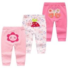 3Pcs/lot Cartoon Print Baby Pants Cotton Baby Leggings Autumn Toddler Boy Girl Pants Newborn Infant Clothing 3 6 9 12 18 24M